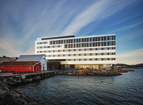 SYV ETASJER: I blåbyen Sortland skal Consto bygge et hotell som har franchiseavtale med Scandic. Hamperokken AS har tegnet hotellbygningen.