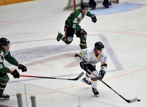 TAPTE GENERALPRØVEN: Kaptein Amund Kjeverud Nyland mener Gjøvik Hockey er i fin framgang fram mot seriestart etter en oppkjøring med tøff motstand i treningskampene.