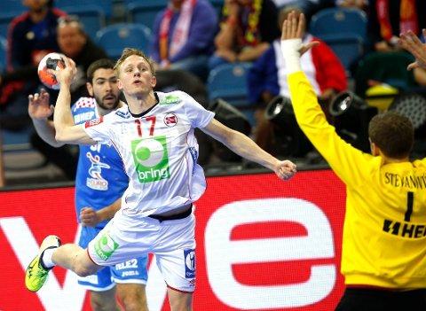 Magnus Jøndal scorer et av sine 496 mål for Norge