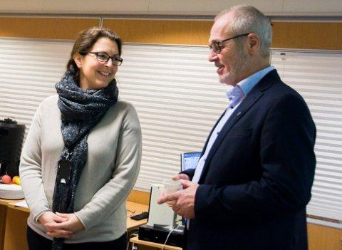 UENIGE: Bane NORs Hanne Sophie Solhaug og ordfører Rune Høiseth. Nå er meklingen avlyst.