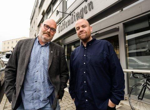 DEBATTLEDERNE: Gunnar Østmoe (til venstre) og Tom Martin Kj. Hartviksen skal lede Østlendingens valgdebatt fra Norsk Skogmuseum.