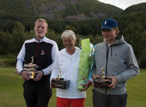Vinnerne: Lars Magnussen, Gry Eriksen og Chris Larsen.