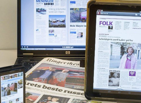 NY TID: – Vi jobber hver eneste dag med å følge lesernes endrede medievaner, og med å svare på forventningene i en ny tidsalder for medier, skriver redaktør Bjørn Harald Blaker.