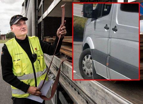 ADVARER: Kontrolleder i Statens Vegvesen er bekymret etter nok et funn av kraftig overlast - slik som varebilen infelt i dette bildet.