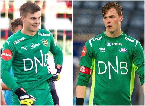 VENNER: Mads Christiansen (t.v.) og Kristoffer Klaesson har trent mye sammen i oppveksten. Søndag vokter hvert sitt mål i derbyet Vålerenga-LSK.