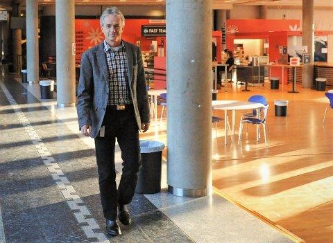 FØLGER SITUASJON: – Vi følger de rådene som helsemyndighetene gir med hensyn til koronaviruset, sier rektor Harald Møller ved Sandefjord videregående skole.
