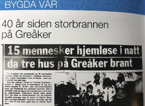 Brannen på greåker: I nyeste utgave av Tuneruner, tar de blant annet et tilbakeblikk på brannen på Greåker i 1979.