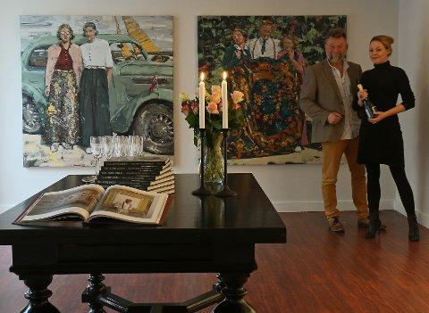 GALLERI GRETTE: Martine og Tor-Arne åpnet sitt nye galleri i Notodden siste helg i november.