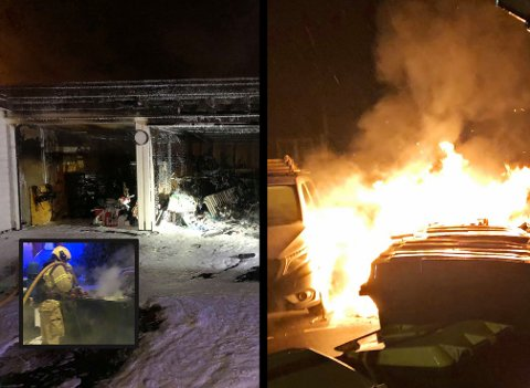 BRANNER: På litt over tre uker har det vært tre branner i Tolvsrød-området. Ingen personer har blitt skadet.