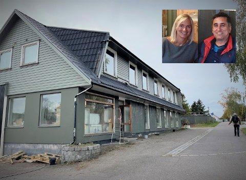 MER ENN LAGER: Den siste tiden har Eldbjørg Kalvenes og Bahram Roudiany brukt Kjærveien 9 som lager for butikken. Snart blir det noe mer.
