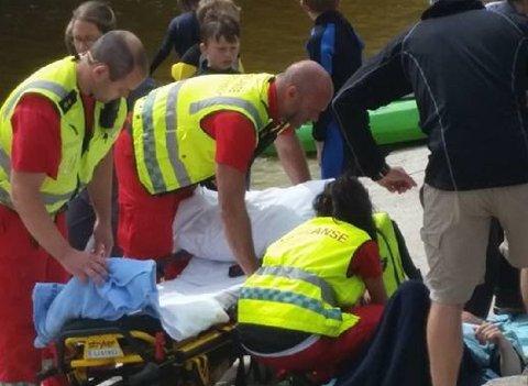 En gutt i tenårene ble skadet i badeparken mandag. Foto: Ann Margrethe Damsgaard