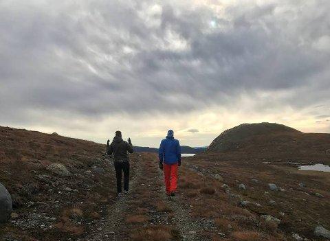 Trillesti: Det er her på 1200 meters høyde over havet, på den gamle stien/anleggsvegen mot Rjupetjern, at vegbyggingen pågår.