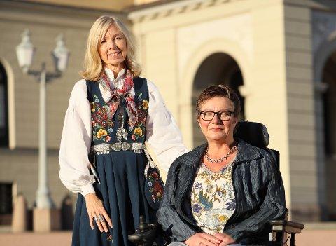 Direktør Astrid Nyquist og styreleder Tove Linnea Brandvik har i dag vært på audiens på slottet i anledning 50- årsjubileet til Beitostølen Helsesportsenter.