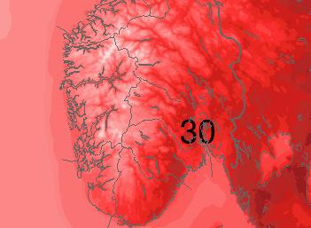 Ifølge Meteorologisk institutt kan det bli tropedag i helgen.