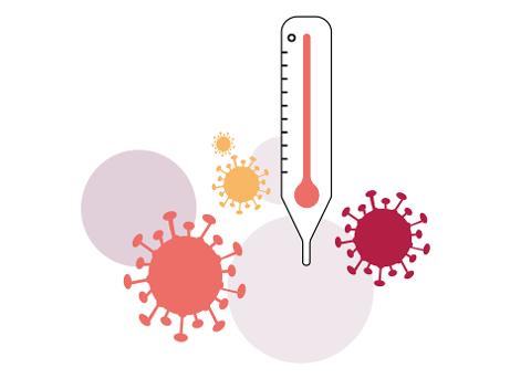 SYMPTOMETER: Dette er en illustrasjon av Symptometeret til FHI.