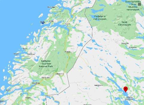 Innsjøen Hornavan ligger ved Arjeplog i Norrbotten i Sverige.