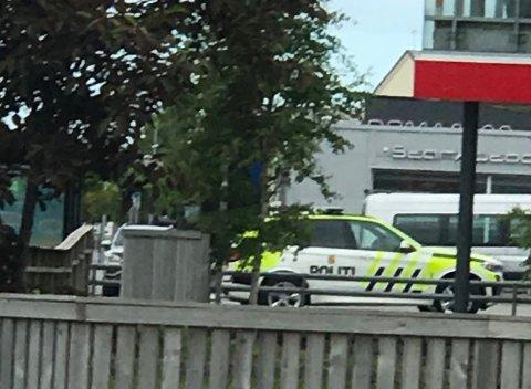 Politiet måtte rykke ut søndag ettermiddag.
