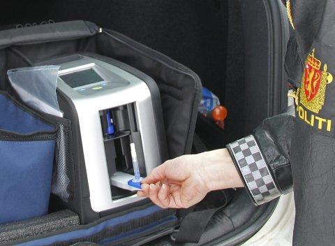 «Dräger Drugtest 5000» tok Utrykningspolitiet på Vestlandet i bruk på slutten av 2015. På ti minutter kan politiet avdekke om en bilfører er ruspåvirket.