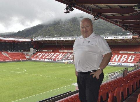 Fotballpresident Terje Svendsen er i Bergen i forbindelse med tirsdagens privatlandskamp mellom Norge og England tirsdag.