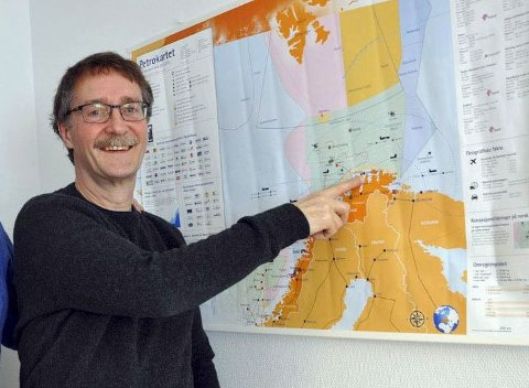 NORD TIL TOPPS: Stig Hansen i Nordkappregionen Næringshage.