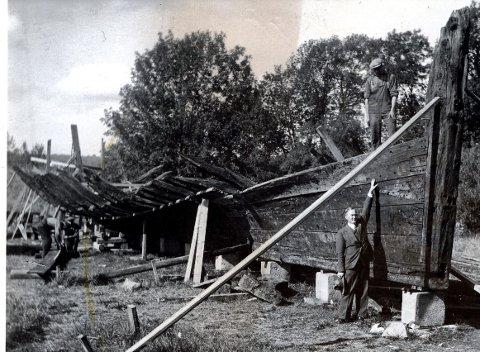 Båtvraket:«Stenbocken» lå  lenge på Vaterland.