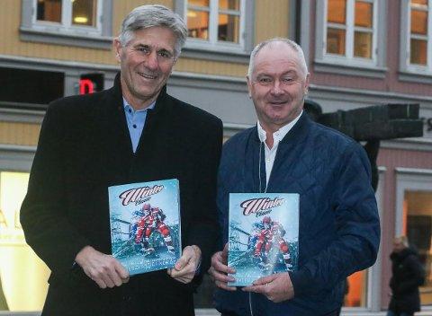 Bankgave: Erik Pedersen (til venstre) og Per Ivar Sandberg i Sparebank 1 Østfold Akershus gir ungdommen gratiskonsert 22. januar.
