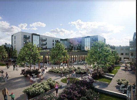 Her er en del av bebyggelsen som Solid Entreprenør har fått kontrakt på å oppføre i Oppegård.