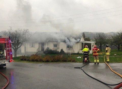 Dødsbrann: En eldre kvinne omkom etter brannen på Årum i november.