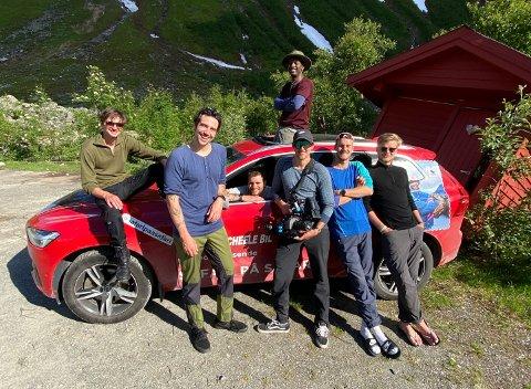 Sommeren 2020 fikk endelig Safari Shabani (på taket) oppleve Norge, takket være kompisene og kollegene i Lucky View.