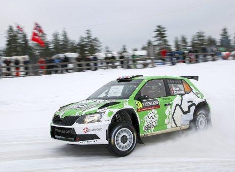 PROGRESJON: I fjor var det en liten sensasjon å bli nummer tre i WRC 2-klassen     på én etappe. I år har Ole Christian Veiby og kartleser Stig Rune Skjærmoen kjørt jevnt på topp tre-tider, og samtidig satt flere etappeseire i WRC 2-klassen. Til slutt ble det 3. plass og verdifulle poeng         i mesterskapet.