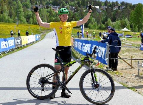 Petter Fagerhaug, Lillehammer CK, kunne juble etter en flott norgescuphelg på Konnerud.