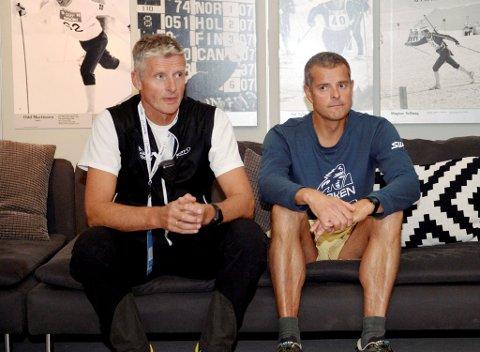 Skadeomfanget blant syklistene i årets Birkebeinerritt var på gjennomsnittet ut fra deltakerantallet, sa rittlege Svein Nordaas. Her sammen daglig leder for Birken, Olaf Johan Thomasgaard.