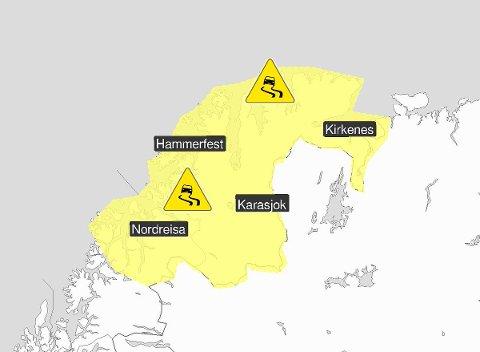 ADVARER: Mandag 10 juli kan det bli glatt på veiene som ligger over 200 meter over havet, advarer meteorologene.