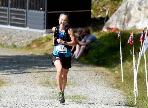 TREDJE STRAKE: Sara-Rebekka Færø Linde vant Blefjells Beste for tredje året på rad og i år på rekordtid. FOTO: OLE JOHN HOSTVEDT