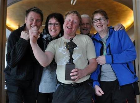 Geir Ove Andersen, Lnne Sørfjell, Jan Erik Skarby, Preben Faye-Schjøll og Ing Randi Johansen ved Figurteateret i Nordland.