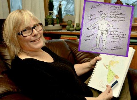 Tegneglede: Ing-Janeth Bruun fant gleden i å tegne da sykdom førte til at hun måtte forlate arbeidslivet. Alle foto: Geir Inge Winther