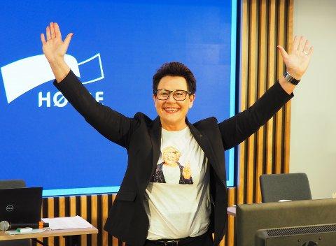 INGUNN OG ERNA: Ingunn Foss slår fast at statsminister Erna Solberg er Høyres aller sterkeste kort  i valgkampen