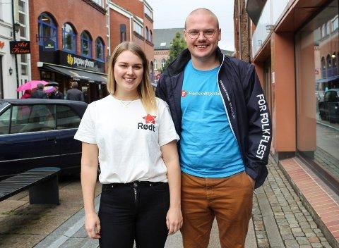 ULIKT VALG: Storesøster Malene Revhaug velger Rødt mens lillebror Niklas Eriksen går for Moss Frp.