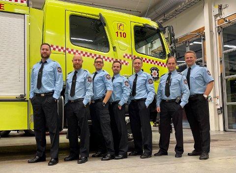 Denne gjengen jobbet for Trøndelag brann- og redningstjeneste julaften.
