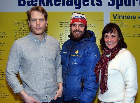 SAMARBEID: Tord Bakke Arvesen (sportslig leder i BSK), Eirik Lund Røer (hovedtrener i skigruppa) og Pernille Støvland (leder for idrettsfag på Lambertseter Videregående Skole) har planer om å gjøre sitt for å få et godt tilbud for langrennsutøvere på videregående.