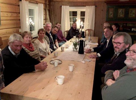 10 bedrifter: På Høvringen deltok på møte om strategiprosessen Høvringen 2025. Foto: Privat