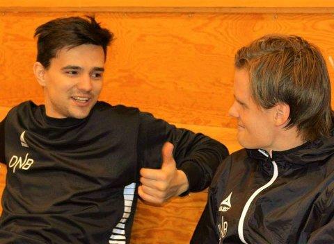 HAR VARSLET PROTEST: Sjarmtrollan-trenere Simen Johansen (t.v.) og Ola Rismo har varlset at de vil levere en protest etter kampen mot Nordpolen.