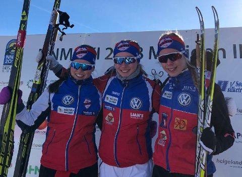 BOIF-jentene fortsetter å imponere i 18-årsklassen. Silje Storaa (t.v), Ingrid Andrea Gulbrandsen og Lisa Amalie Valnes.