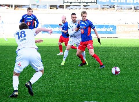 TAPTE: Lars Henrik Andreassen og TUIL fikk det ikke helt til å stemme mot Aalesund. Her fra en tidligere kamp mot Notodden.