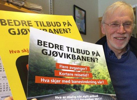 KRITISK: Prosjektleder Edvin Straume i Stor-Oslo Nord påpeker at «nyheten» om nye tog er gammelt nytt. Arkivbilde