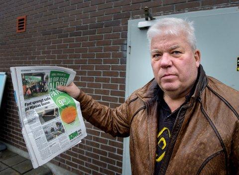 HADDE INNBRUDD: Stein Erik ANdreassen hadde innbrudd i rørleggerforrretningen sin på Dokka på 90-tallet og dro kjensel på safen som ble hentet opp av Mjøsa forrige helg.
