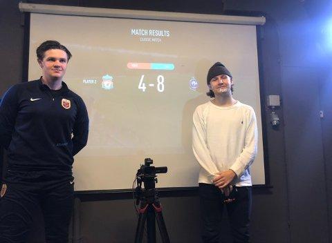 OVERLEGENT: Det endte til slutt med en overlegen seier til Erik Nyhus (t.h) over finalemotstander Alexander Bertheussen.