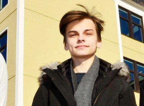 Gjenvalgt: Gabriel Kappfjell Herbst fra Mo i Rana fortsetter som fylkesleder i Elevorganisasjonen.