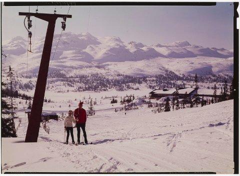 Alle fotografier fra Gaustablikk Høyfjellshotell 1971 (Normanns/Nasjonalbiblioteket)