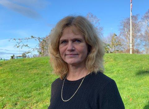 Rektor på Gjennestad videregående skole, Kristin Sanna Kihle synes ikke noe om at skolen hennes troner øverst på frafallsstatistikken.